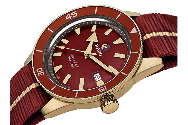 Rado Captain Cook Bronze Burgundy