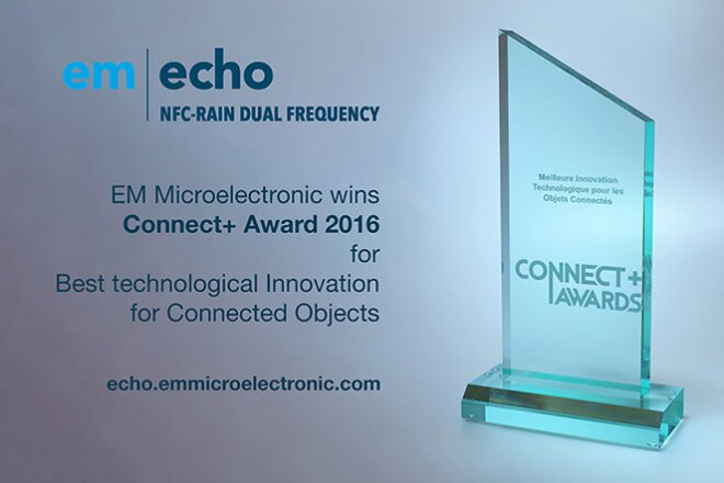 EM Microelectronic receives Connect+ award