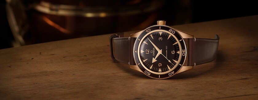 Omega Seamaster 300 - the Bronze Gold model