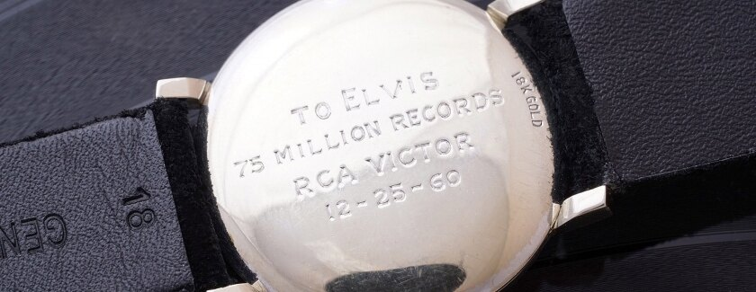 OMEGA timepiece belonging to the legendary performer Elvis Presley